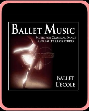 Cd con musica para clase de ballet