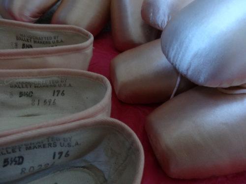 Tallas de zapatillas y puntas de ballet